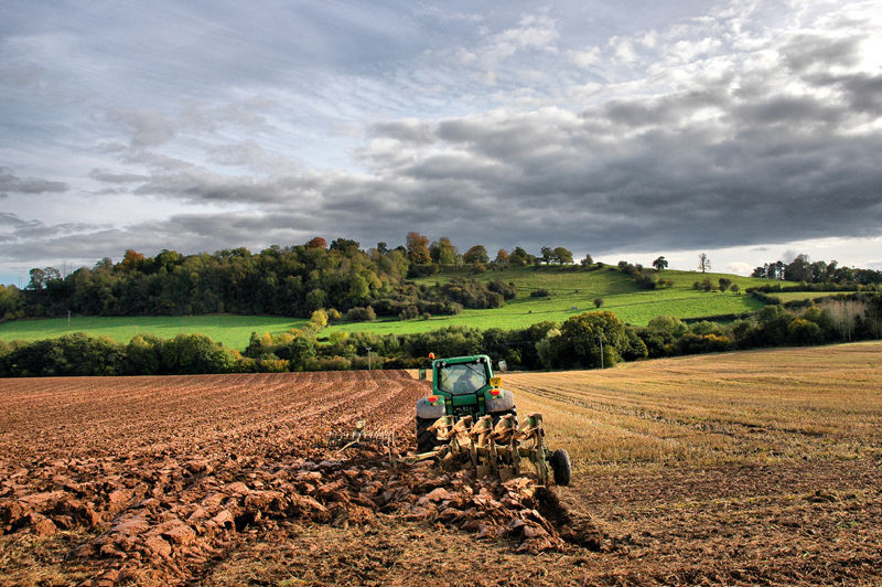 Ploughing Ludlow Shropshire UK