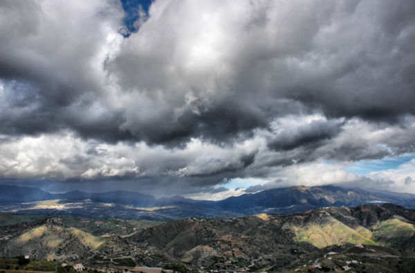 Clouds Comares Andalusia Spain