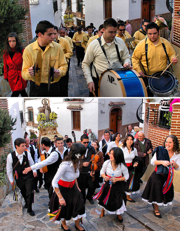 St Hilario Fiesta Comares Andalusia Spain
