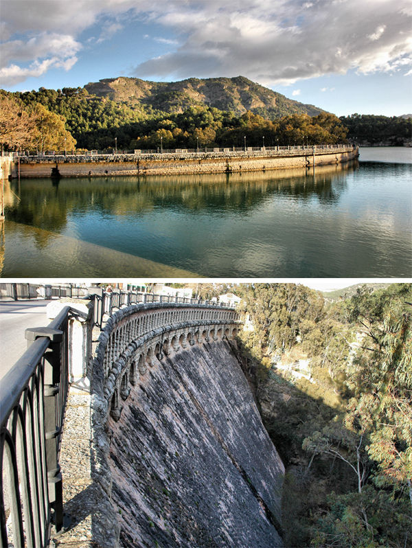 The Dam El Chorro Andalusia Spain