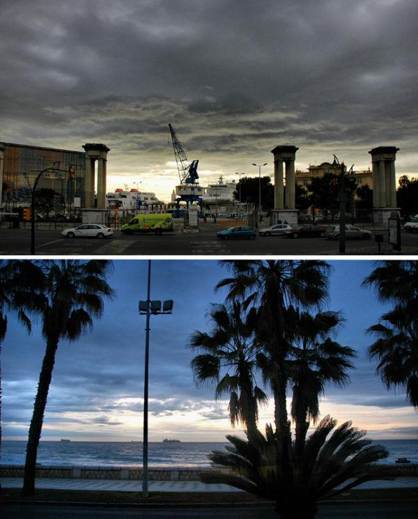 Malaga Sunrise Andalusia Spain