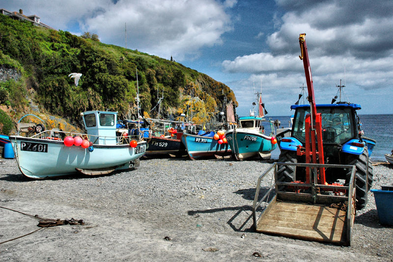 Fishing Boats Cadgwith Cove Cornwall UK