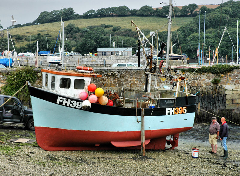 Fishing Boat Mylor Cornwall UK