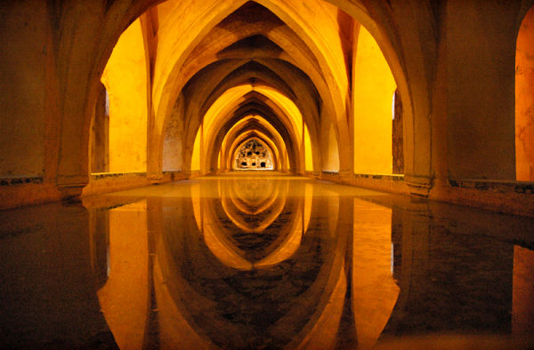 Baths Alcazar Sevilla Spain