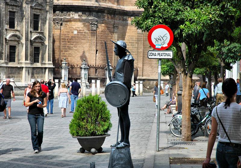 Don Quixote Alcazar Seville Spain