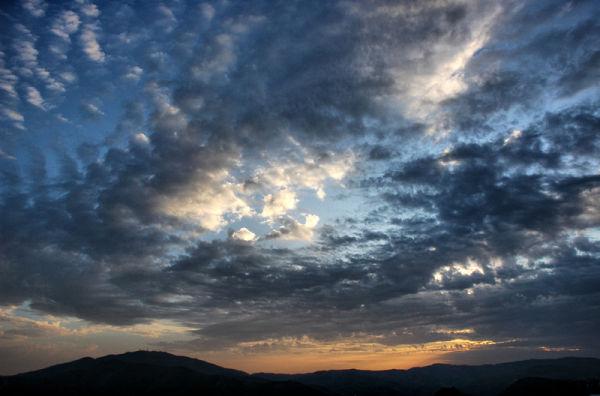 Sunset Comares Axarquia Spain