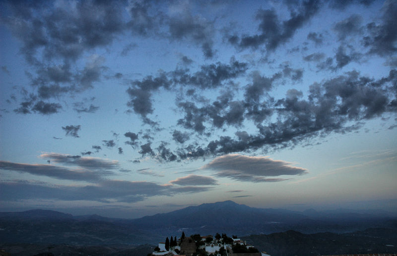 First Light Comares Axarquia Andalusia Spain