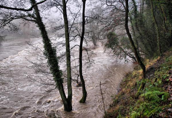 Thaw River Teme Ludlow Shropshire UK