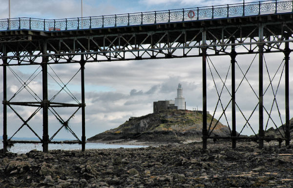 Lighthouse Mumbles Gower Wales UK