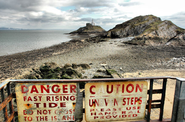 Lighthouse Mumbles Gower Wales UK
