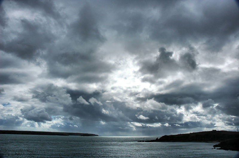 Clouds Milford Haven Pembrokeshire Wales UK