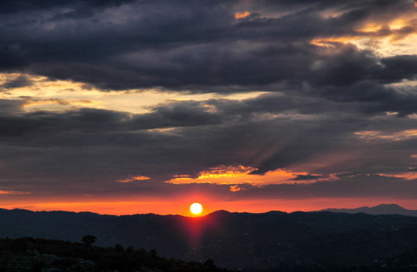 Sunset Comares Axarquia Andalusia Spain