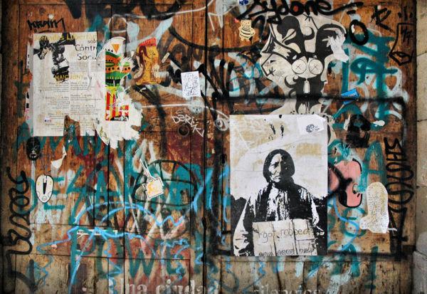 Robbed Graffiti Barcelona Spain