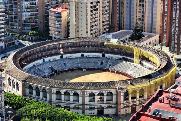 Bull Ring Malaga Andalusia Spain