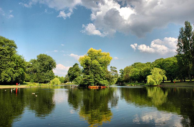 Handsworth Park Boating Lake Birmingham UK