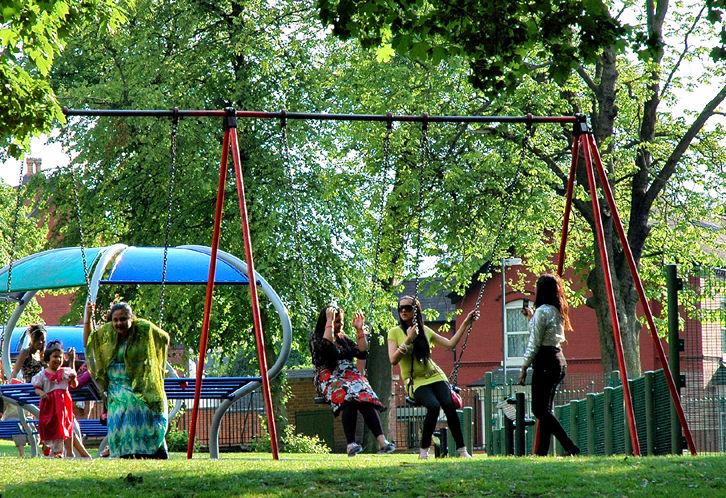 Swings Handsworth Park Birmingham UK