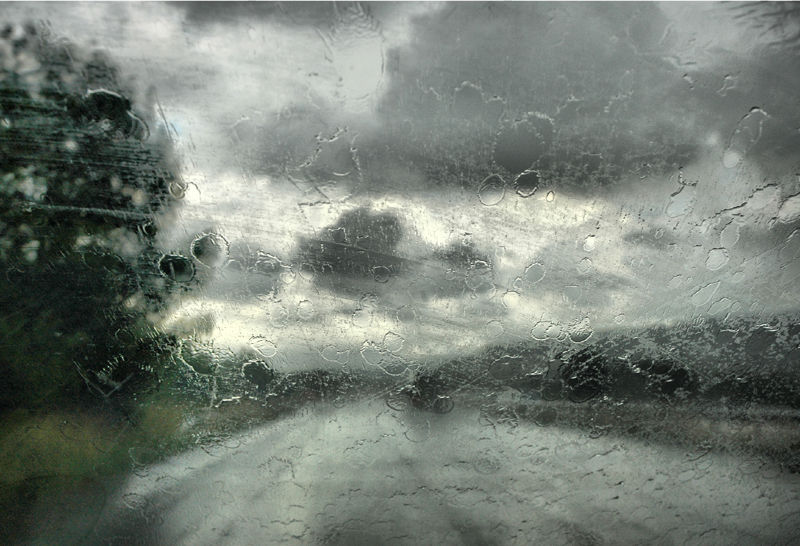 Rain Driving Wales UK