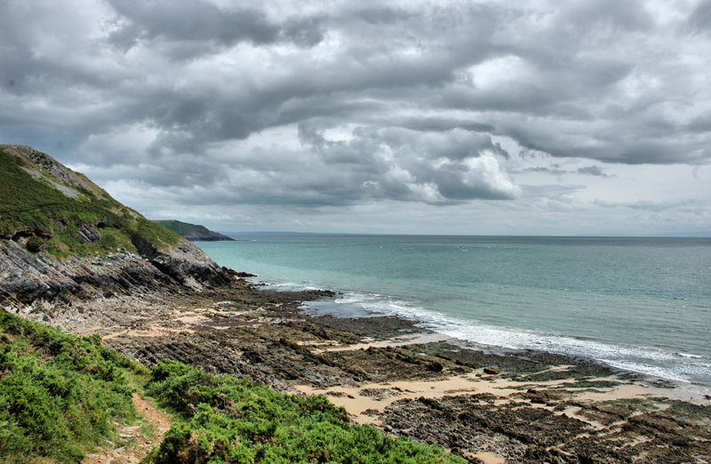 Coast Path Gower Wales UK