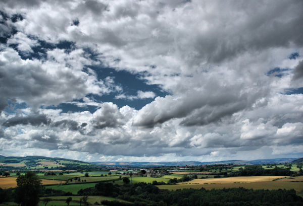 Clouds Mortimers Forest Ludlow Shropshire UK