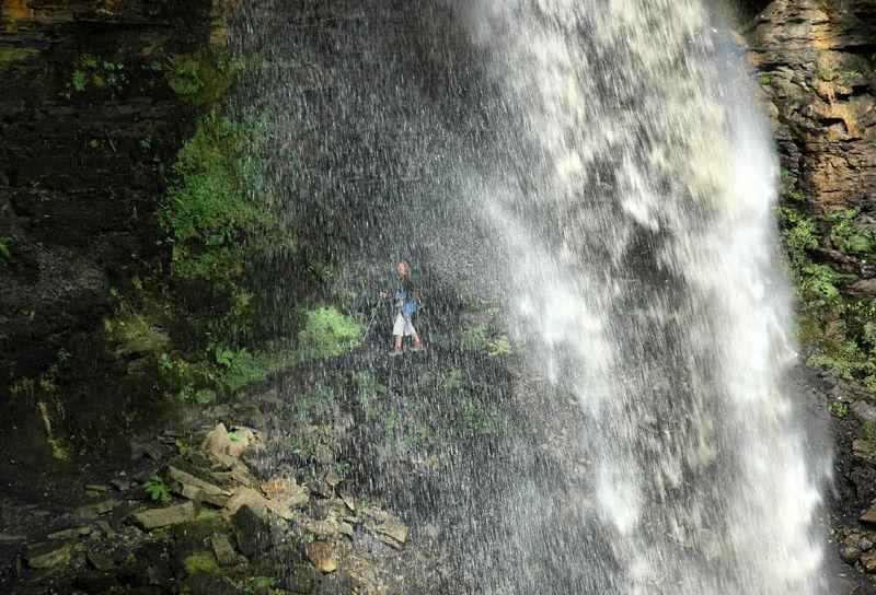 Waterfall Hardraw Yorkshire UK