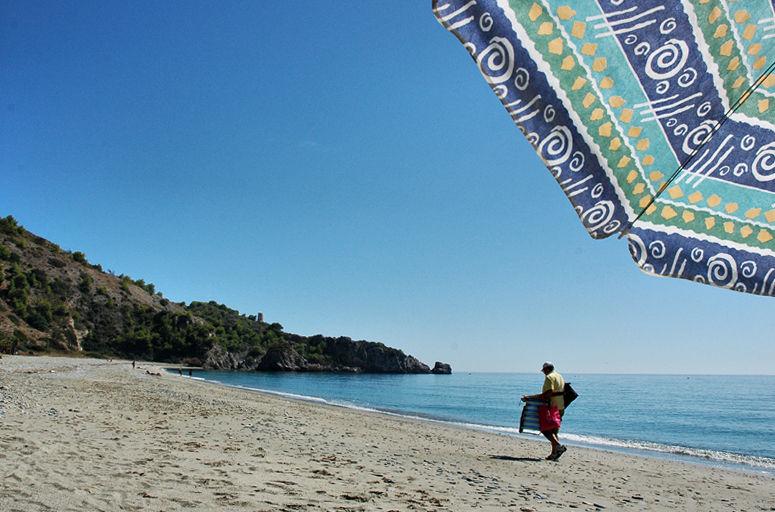 Beach Canuelo Maro Axarquia Andalusia Spain