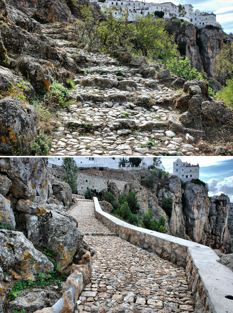 Moorish Path Comares Axarquia Andalucia Spain