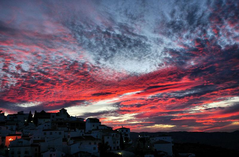 Sunset Comares Axarquia Andalucia Spain