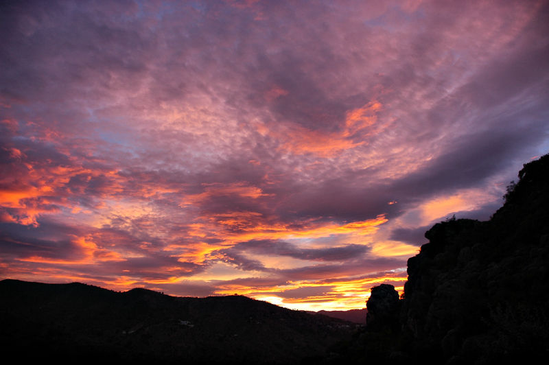 Sunset El Buho Comares Axarquia Andalucia Spain