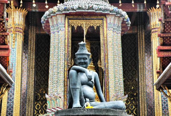 SculptureTemple of the Emerald Buddha Bangkok Thai
