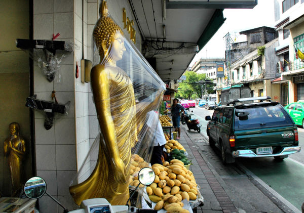 Shrink Wrapped Buddha Bangkok Thailand