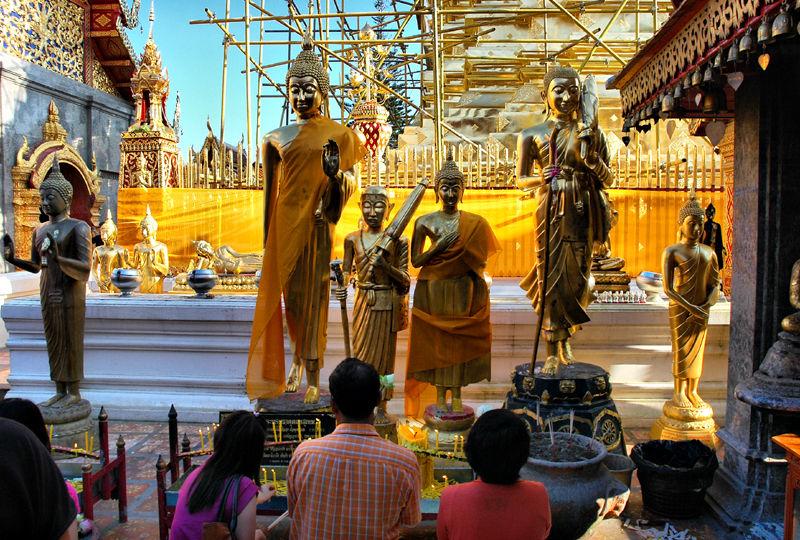 Buddhas Doi Suthep Chiang Mai Thailand