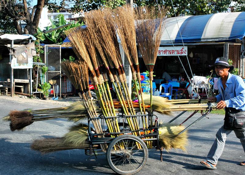 Broom Seller Chiang Mai Thailand