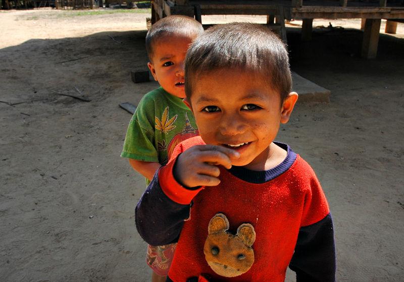 Hill Tribe Children Mekong Laos