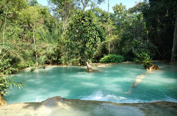 Kuang Si Waterfall Luang Prabang  Laos