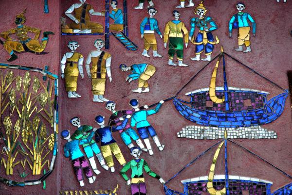 Glass Mosaic decoration Luang Prabang  Laos