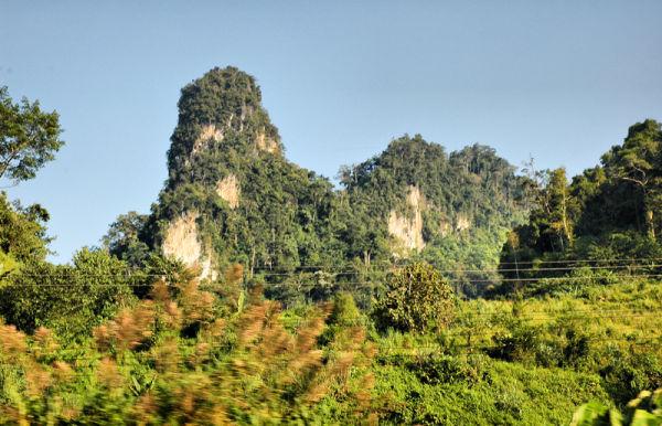 Karst Limestone Vang Vieng Laos