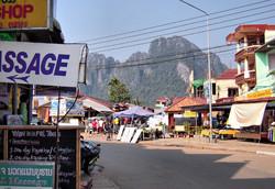 Downtown Vang Vieng Laos