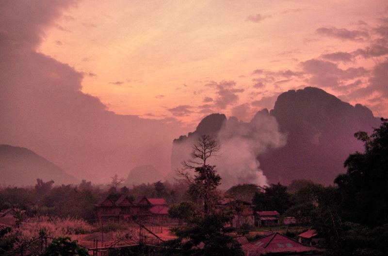 Sunset Vang Vieng Laos