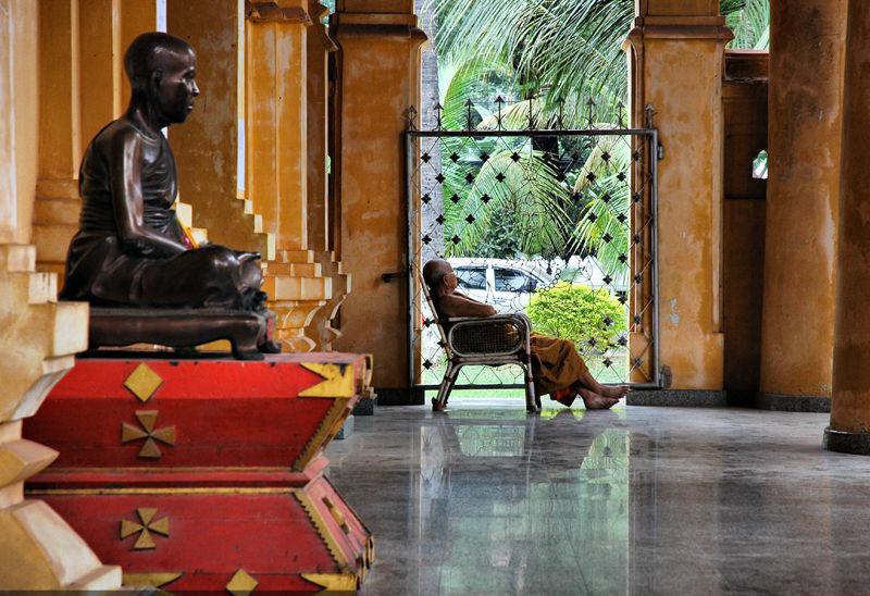 Dozing Monk Vientianne Laos