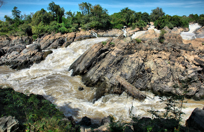 Waterfalls Don Koney Laos