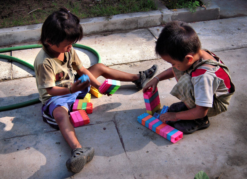 Lego Children Don Dek Four Thousand Islands Laos