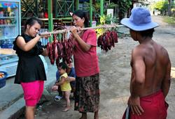 Meat seller Don Dek Four Thousand Islands Laos