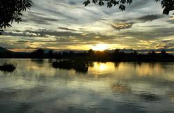 Don Dek Mekong Four Thousand Islands Laos Sunset
