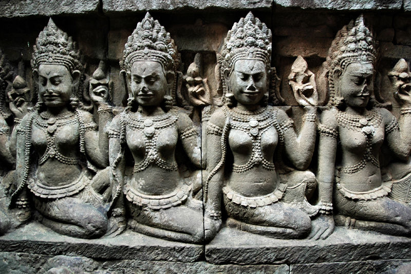 Leper King Terrace Angkor Temple Complex Cambodia