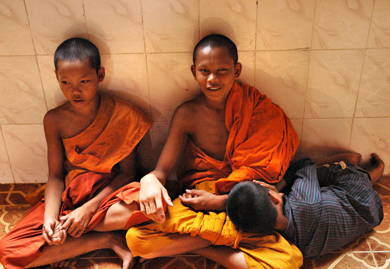 Young Monks Siem Peap Cambodia