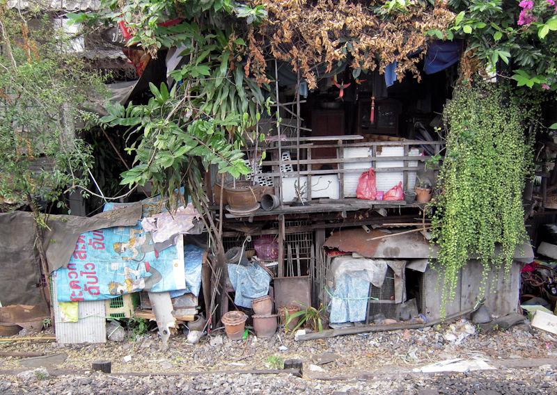 Shanty Town Railway Bangkok Thailand