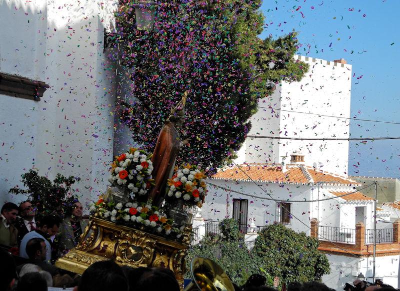 Saint Hilario Fiesta Comares Andaulusia Spain