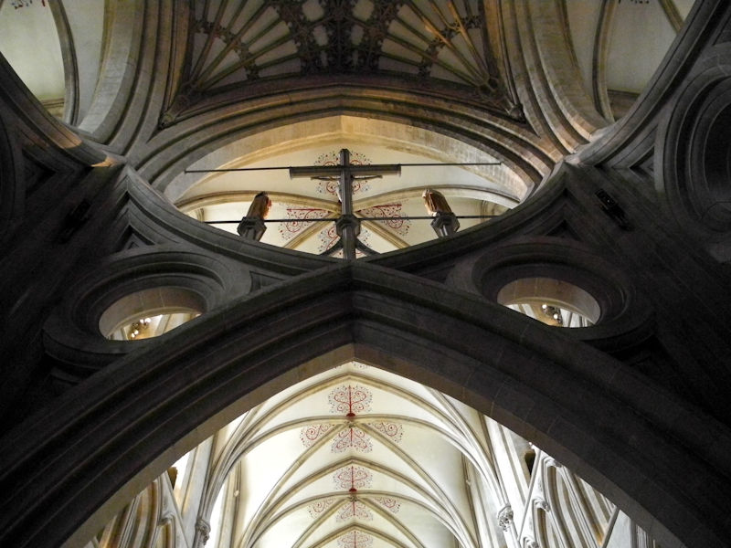 Scissor Arches Wells Cathedral Somerset UK