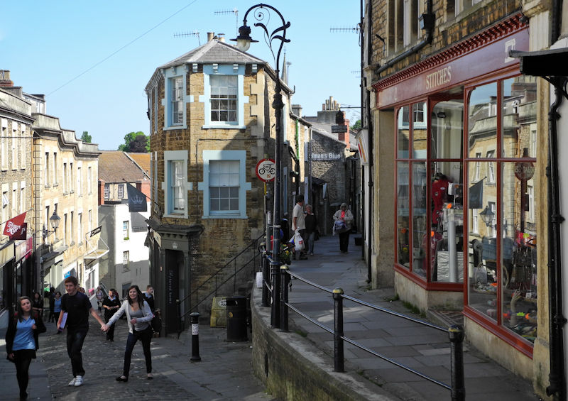 Frome street scene Somerset UK