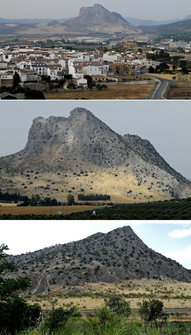 Giants Head Antequera Andalusia Spain